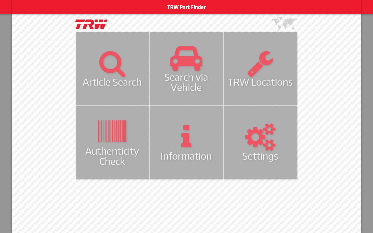 Программа TRW Part Finder
